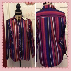 Nwt Anne Klein striped blouse